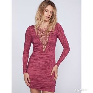 FREE PEOPLE Look of Love Lace Mini Bodycon Dress